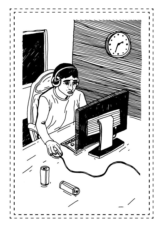 Nieregularny tryb życia - np. granie w gry do późna