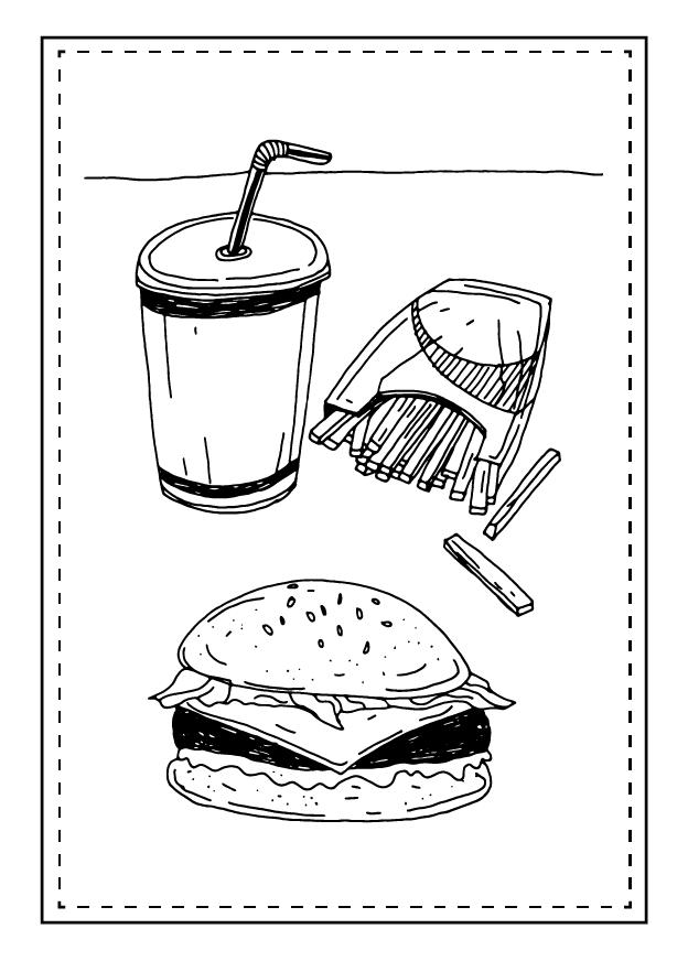 Niezdrowa monotonna dieta - słodycze, fast food
